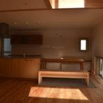 02:造作のキッチン、収納棚、お客様オリジナル仕様です