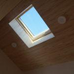 11:天窓がさらにお部屋を明るくしてくれます