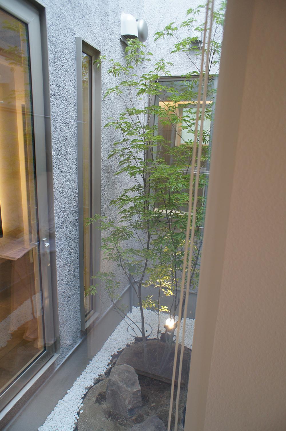 注文住宅 新築 姫路市 ADHOUSE お風呂 眺め 坪庭 在来風呂