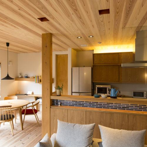 スキップフロアが生み出す贅沢空間の家 ダイニング・キッチン