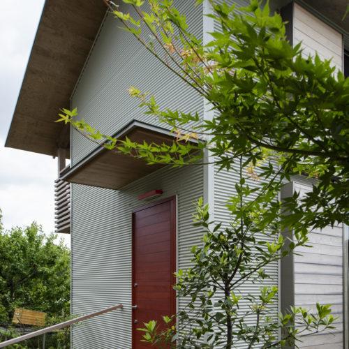 木の家で緑あふれる暮らし 玄関