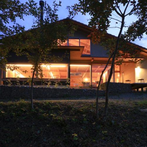 里山の木の家 外観