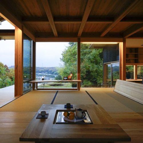 里山の木の家 リビング