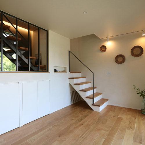 スキップフロアの家 階段