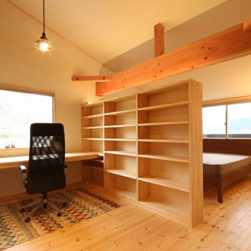 自然素材の家 書斎