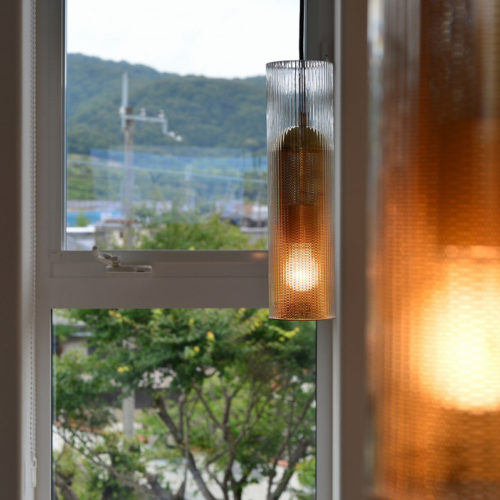 中庭のある家 間接照明