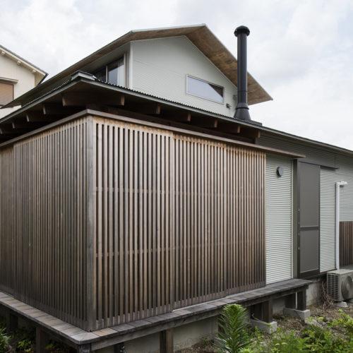 木の家で緑あふれる暮らし インナーテラス