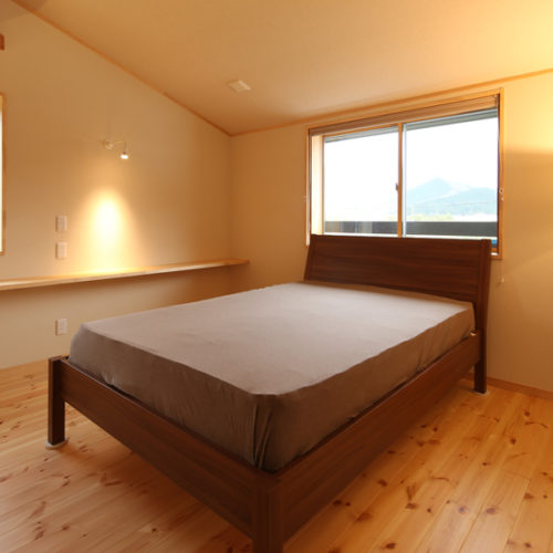 自然素材の家 寝室