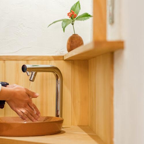 北条の家ー手洗いスペース