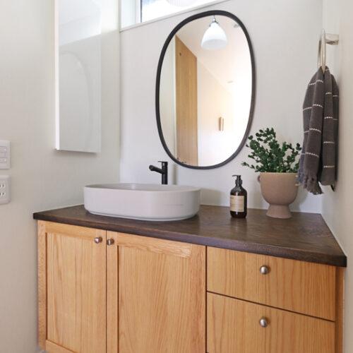 オリジナル木製洗面台