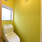 トイレの壁はお客様がお塗りになられました。